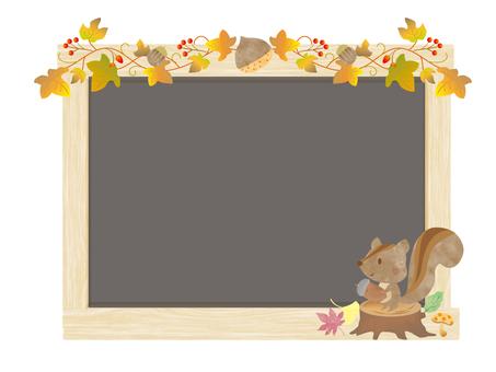 가을 보드 _ 귀여운 다람쥐