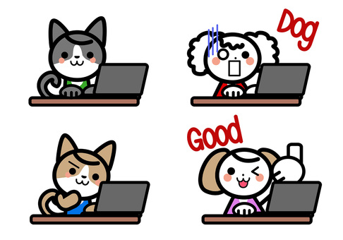 Simple Dog's Character Set - Laptop