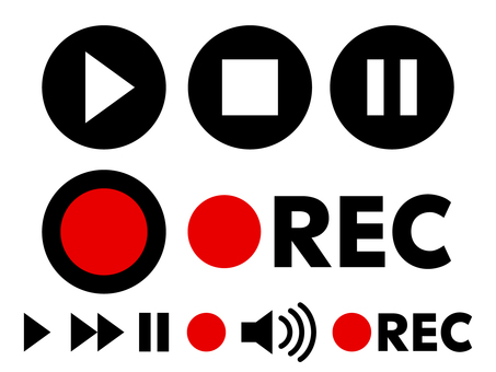 Movie creation material Recording button set