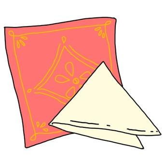 Triangle towel