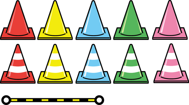 Triangular cone set