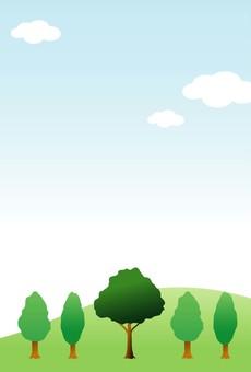 언덕과 나무와 푸른 하늘 2