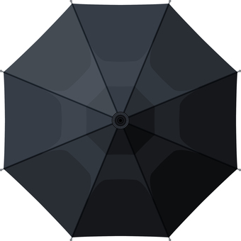 Umbrella seen from above black black black