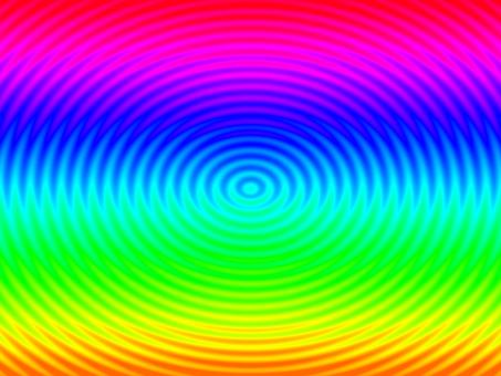 Rainbow color wave