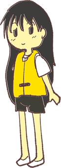 Girl wearing a lifejacket