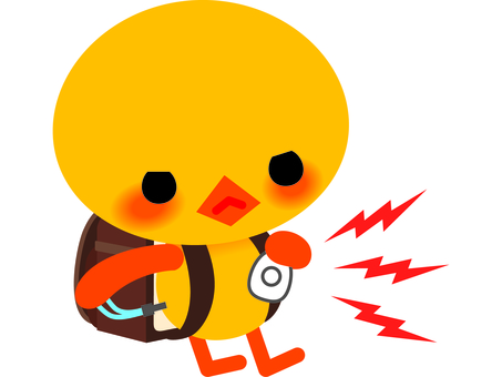 Chick and burglar alarm bell