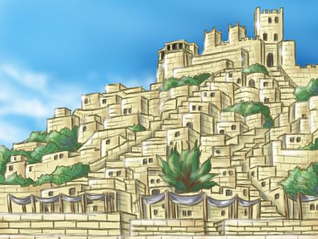 Ancient city background illustration