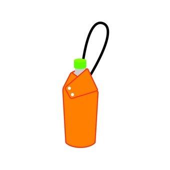 등산 용품 - 페트병 홀더에 들어간 음료