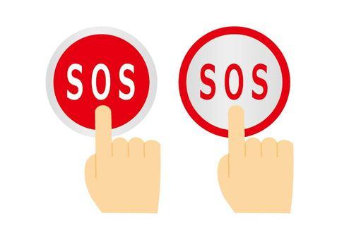 Press the SOS button