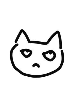 Yuru Character Cat worried