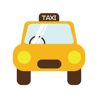 Taxi image (as seen from the front)