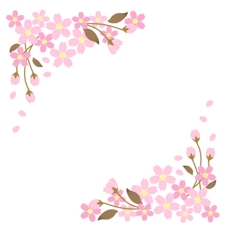 Sakura (cherry tree) frame
