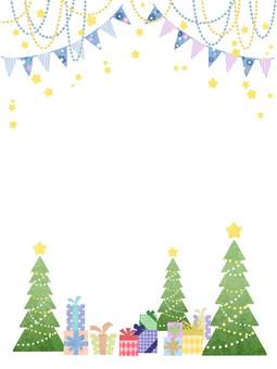 Winter frame Christmas tree (vertical)