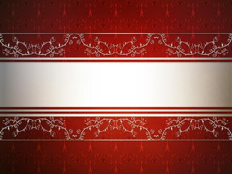 Vintage silver decoration red
