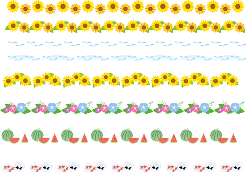 Line decorative ruling Sunflower Sunasa