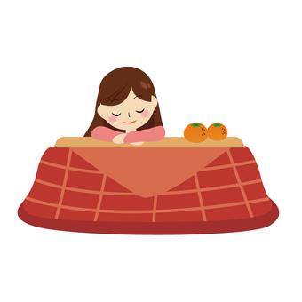 Kotatsu and girls