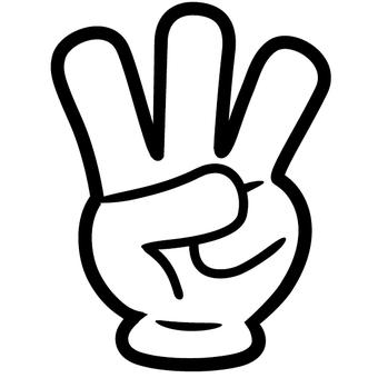 3 gesture fingers