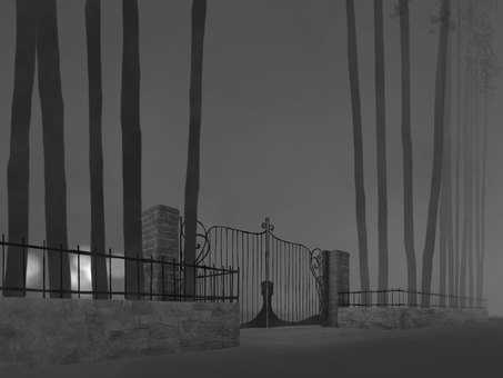 Background (iron fence) monochrome