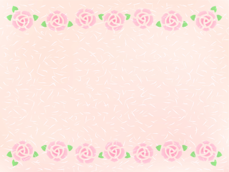 Rose frame (rose color Japanese style texture)