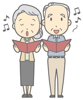 Elderly couple - Chorus - Whole body