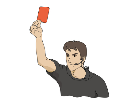 The referee who issues a red card