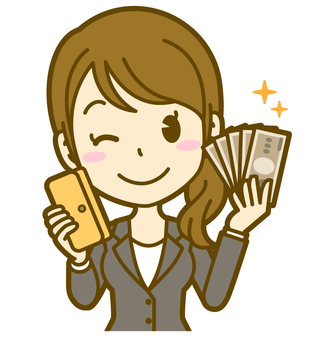 Female (office worker): C_ money 03BS