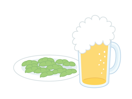Beer and Edamame Message Card