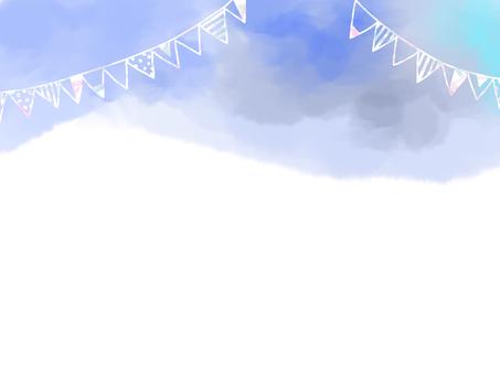天藍色的花環