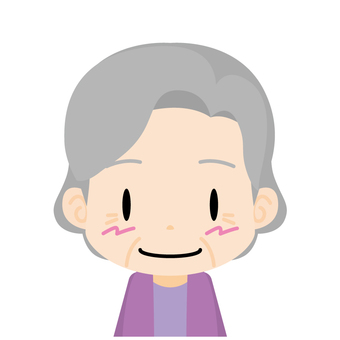 Old woman (smile) Bust up