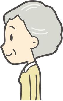 老人女性長袖-314-バスト
