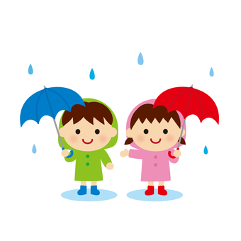 Rain and children