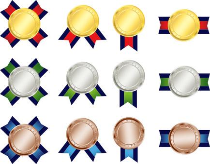 메달 리본 금은동