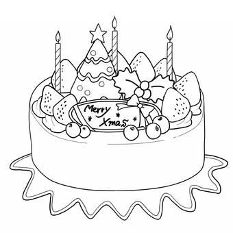 圣诞节蛋糕3绘图