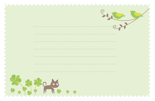 Letter notes of small birds and cats