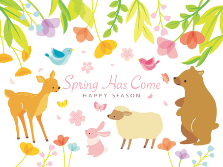 Spring illustration set (5)