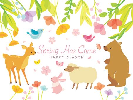 Conjunto de ilustración de primavera (5)