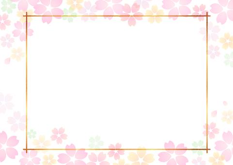 Cherry blossom material 348
