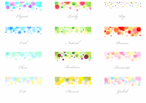 Watercolors style background list