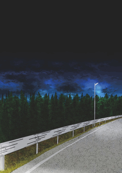 Night road (vertical)