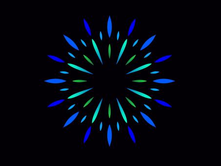 Fireworks (blue series)