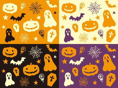 Halloween pattern 001 set