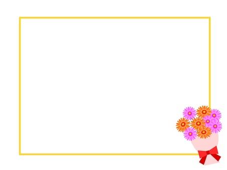 Gerbera frame bouquet bouquet