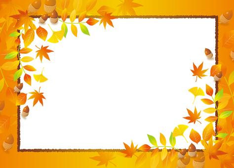 Autumn tree leaf frame