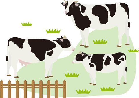 소 목장 배경 수
