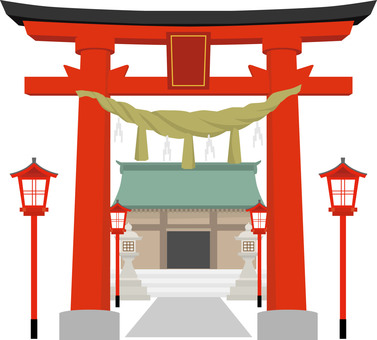 Torii and Shinto shrine