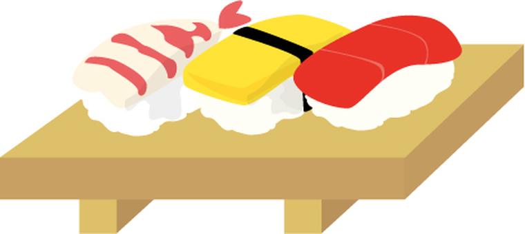 Sushi Tuna Egg Shrimp