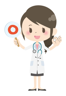 Female doctor * Answer · commentary 01