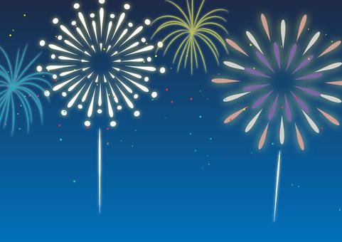 Illustration of fireworks
