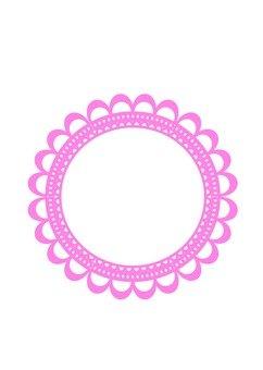 핑크 원형 프레임