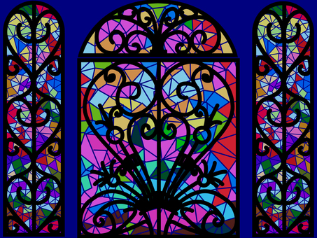 Design stained glass doors